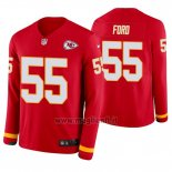 Maglia NFL Therma Manica Lunga Kansas City Chiefs Dee Ford Rosso