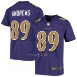 Maglia NFL Game Bambino Baltimore Ravens Mark Andrews Viola Color Rush