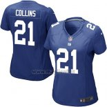 Maglia NFL Game Donna New York Giants Collins Blu