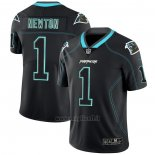 Maglia NFL Limited Carolina Panthers Newton Lights Out Nero