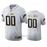 Maglia NFL Limited Los Angeles Chargers Personalizzate Golden Edition Bianco