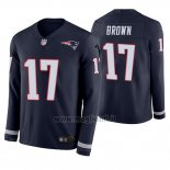 Maglia NFL Therma Manica Lunga New England Patriots Antonio Brown Therma Blu