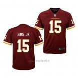 Maglia NFL Game Bambino Washington Redskins Steven Sims Jr. Rosso