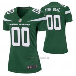 Maglia NFL Game Donna New York Jets Personalizzate Game Verde