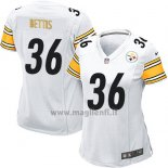 Maglia NFL Game Donna Pittsburgh Steelers Bettis Bianco