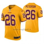 Maglia NFL Legend Washington Redskins Adrian Peterson Giallo