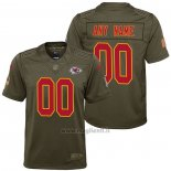 Maglia NFL Limited Bambino Kansas City Chiefs Personalizzate Salute To Service Verde
