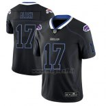 Maglia NFL Limited Buffalo Bills Josh Allen Nero Color Rush 2018 Lights Out