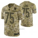 Maglia NFL Limited Chicago Bears 75 Kyle Long 2018 Salute To Service Camuffamento
